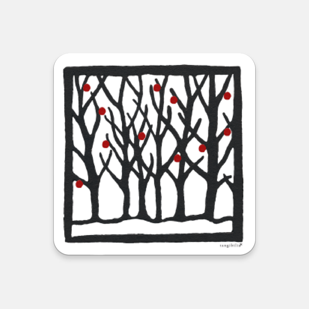 Coaster | Winter Pattern | Trees Collection