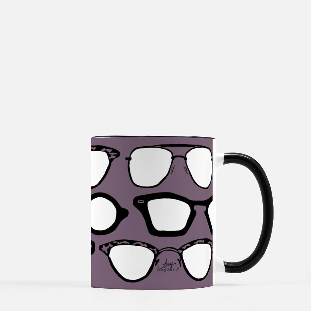 Ceramic mug | Vintage Eyewear | Dusty Violet | Retro Collection | 11 fl oz