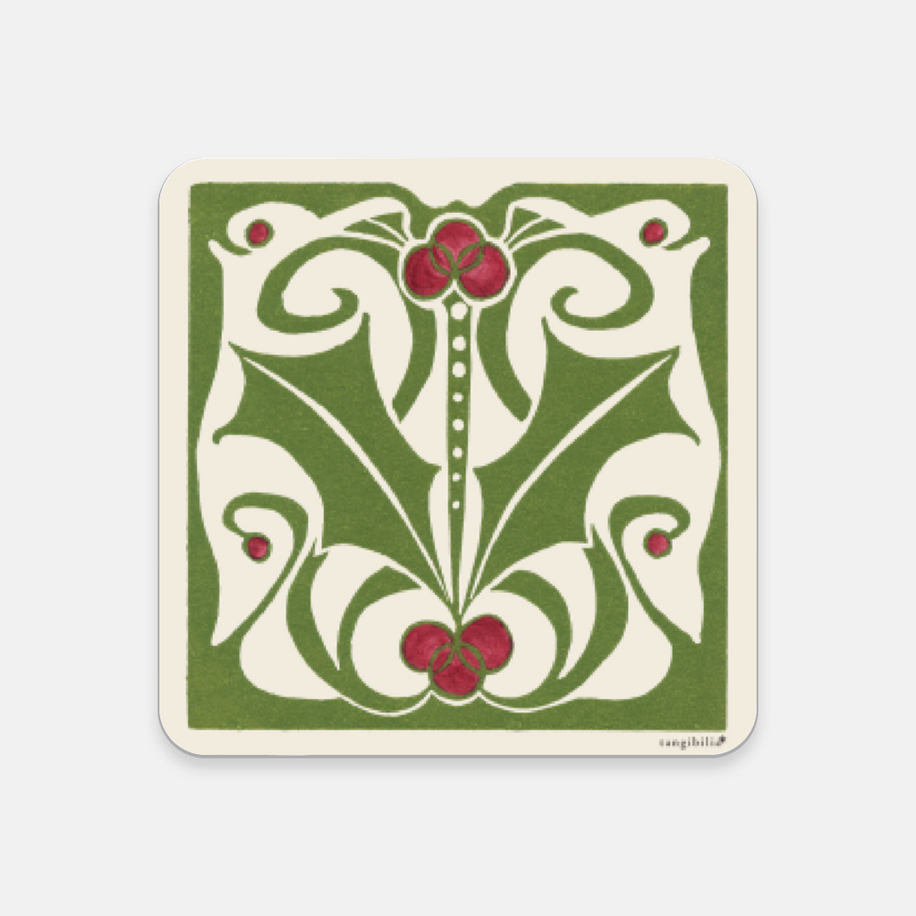 Coaster | Nouveau Holly Pattern | Holiday Collection