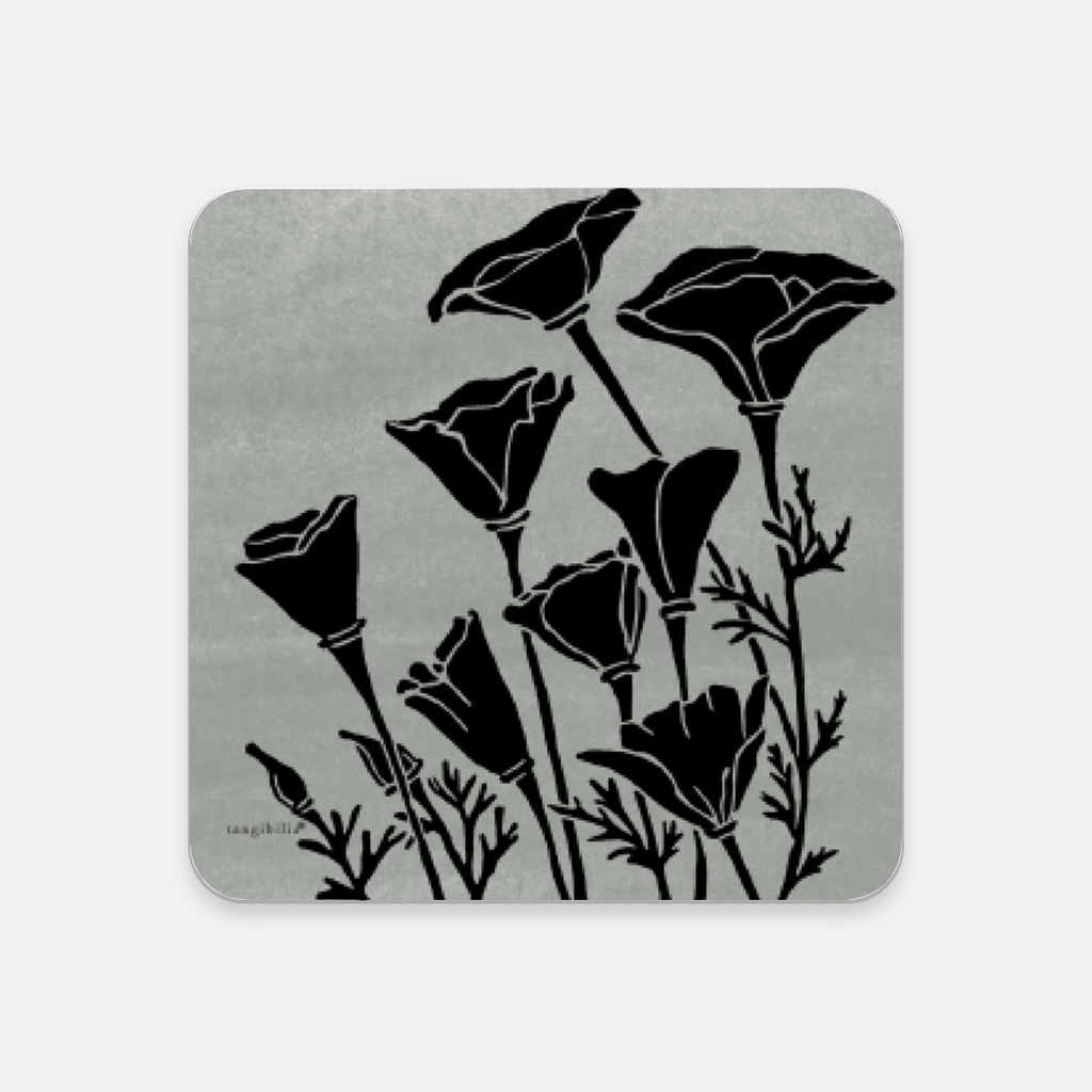 Coaster | California Poppy Pattern | Native Flowers Collection