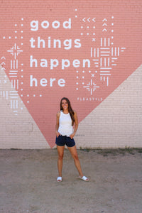 Serena Drawstring Shorts - Navy