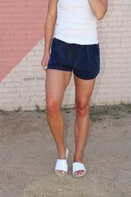 Load image into Gallery viewer, Serena Drawstring Shorts - Navy