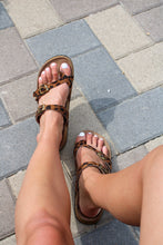 Load image into Gallery viewer, Ava Cheetah Sandals