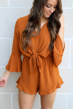 Load image into Gallery viewer, Jessie Romper - Caramel