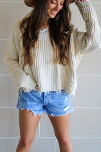 Hallie Sweater - Ivory