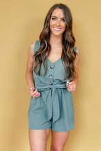 Load image into Gallery viewer, Kinsley Button-Up Romper