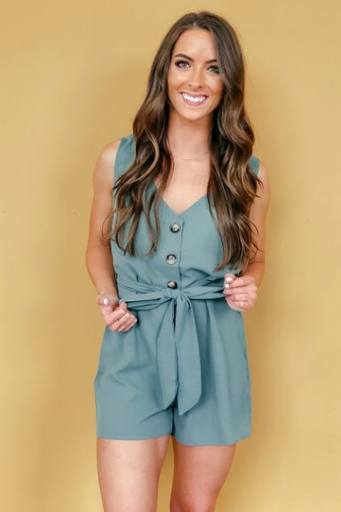 Kinsley Button-Up Romper