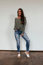 Load image into Gallery viewer, Peyton Open Back Sweater - Olive