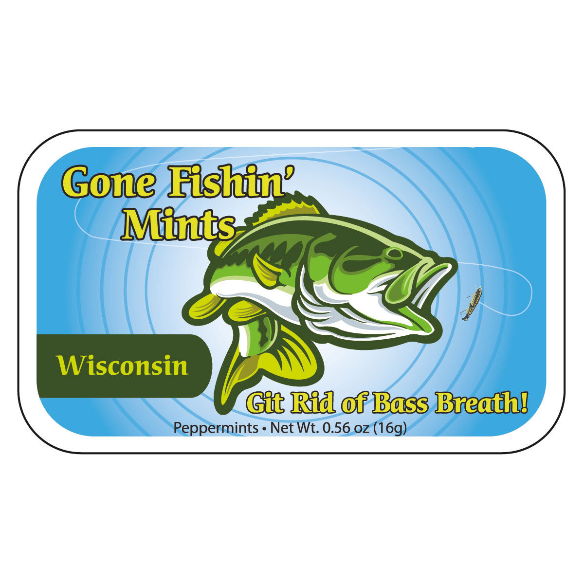 Gone Fishin' Wisconsin - 0109S