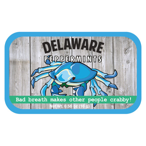 Blue Crab Woodgrain Delaware - 0353S