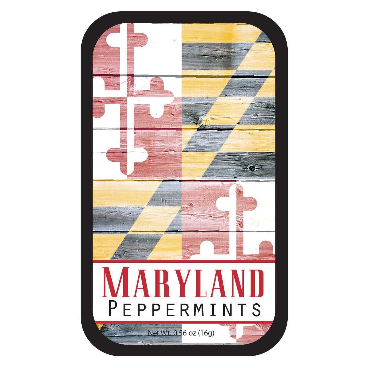 Maryland Flag Woodgrain - 0517S