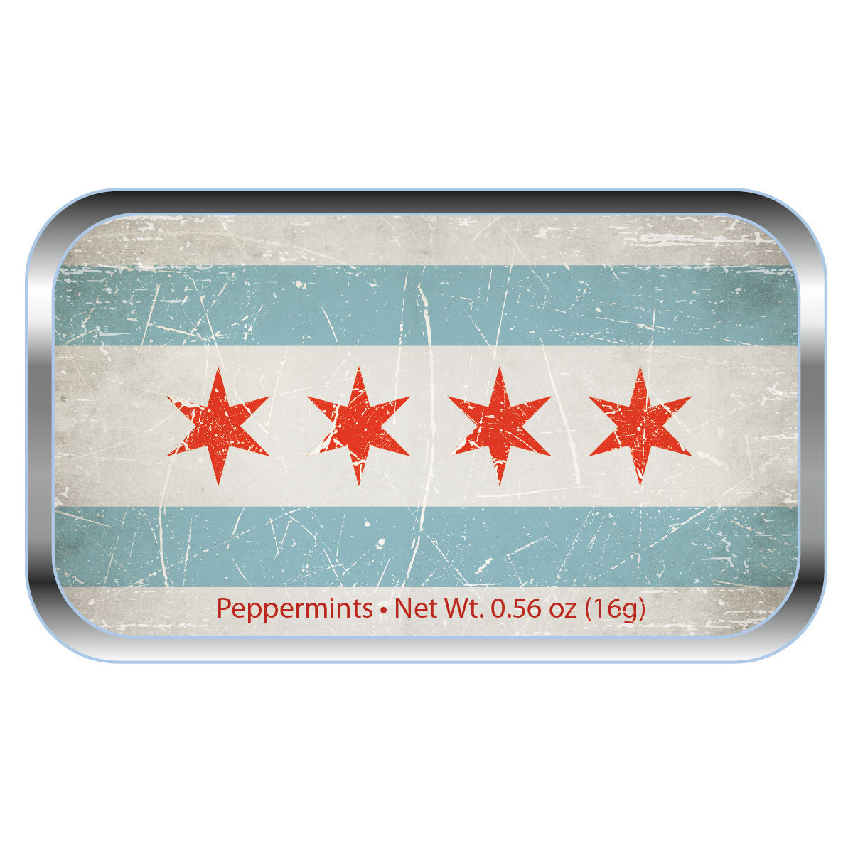 Chicago Distressed Flag - 0528S