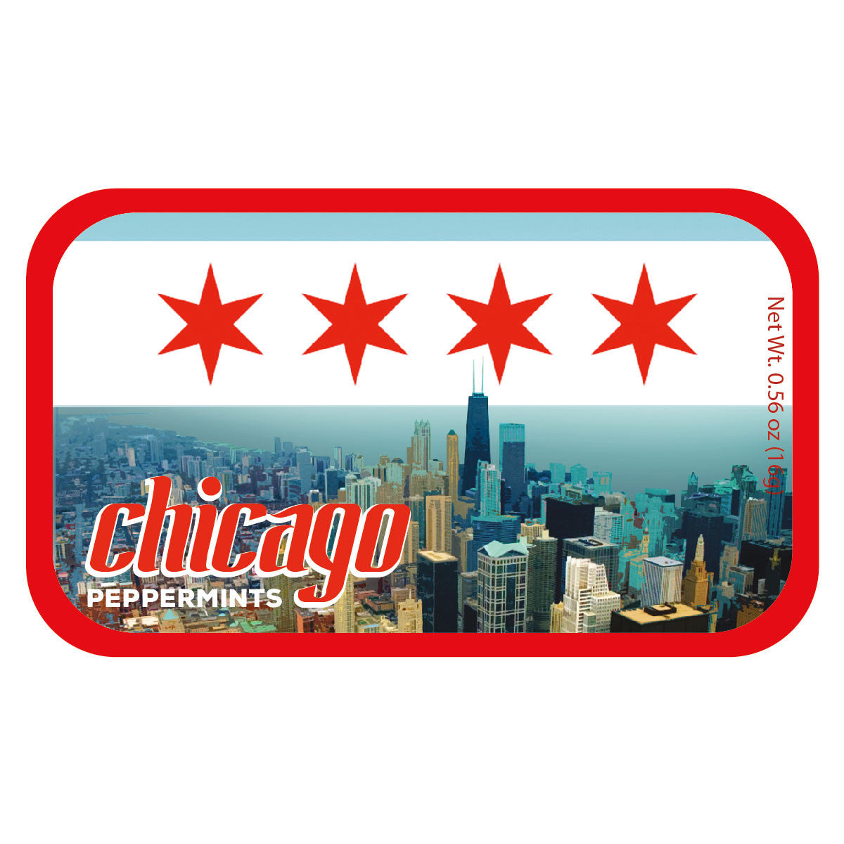 Chicago Flag Skyline - 0569S