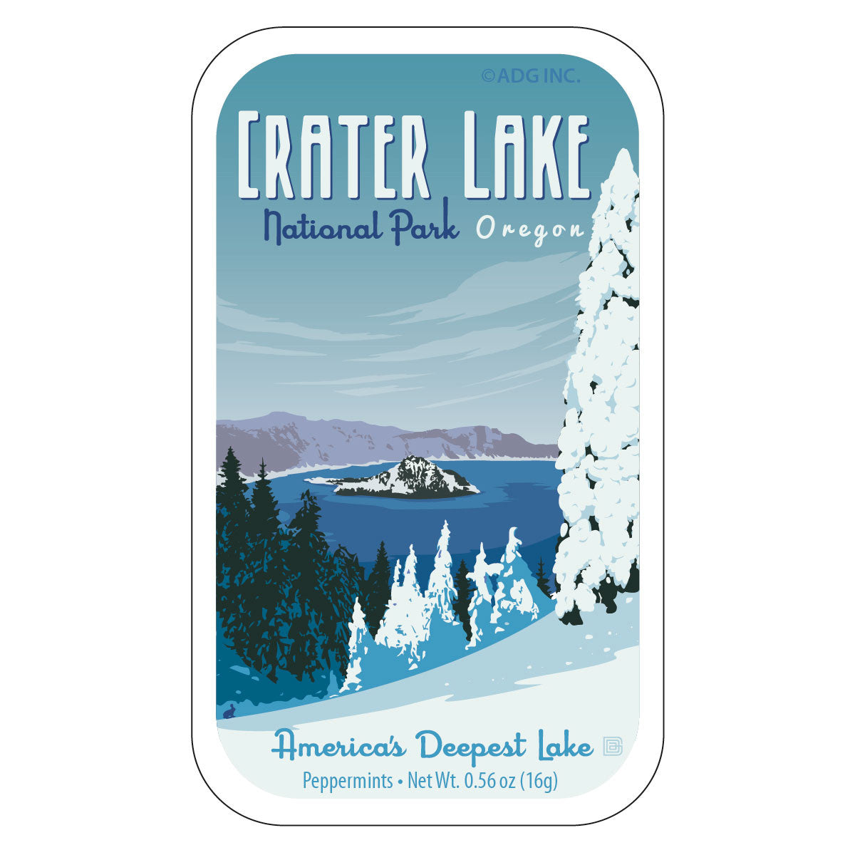 Crater Lake Oregon - 1027A