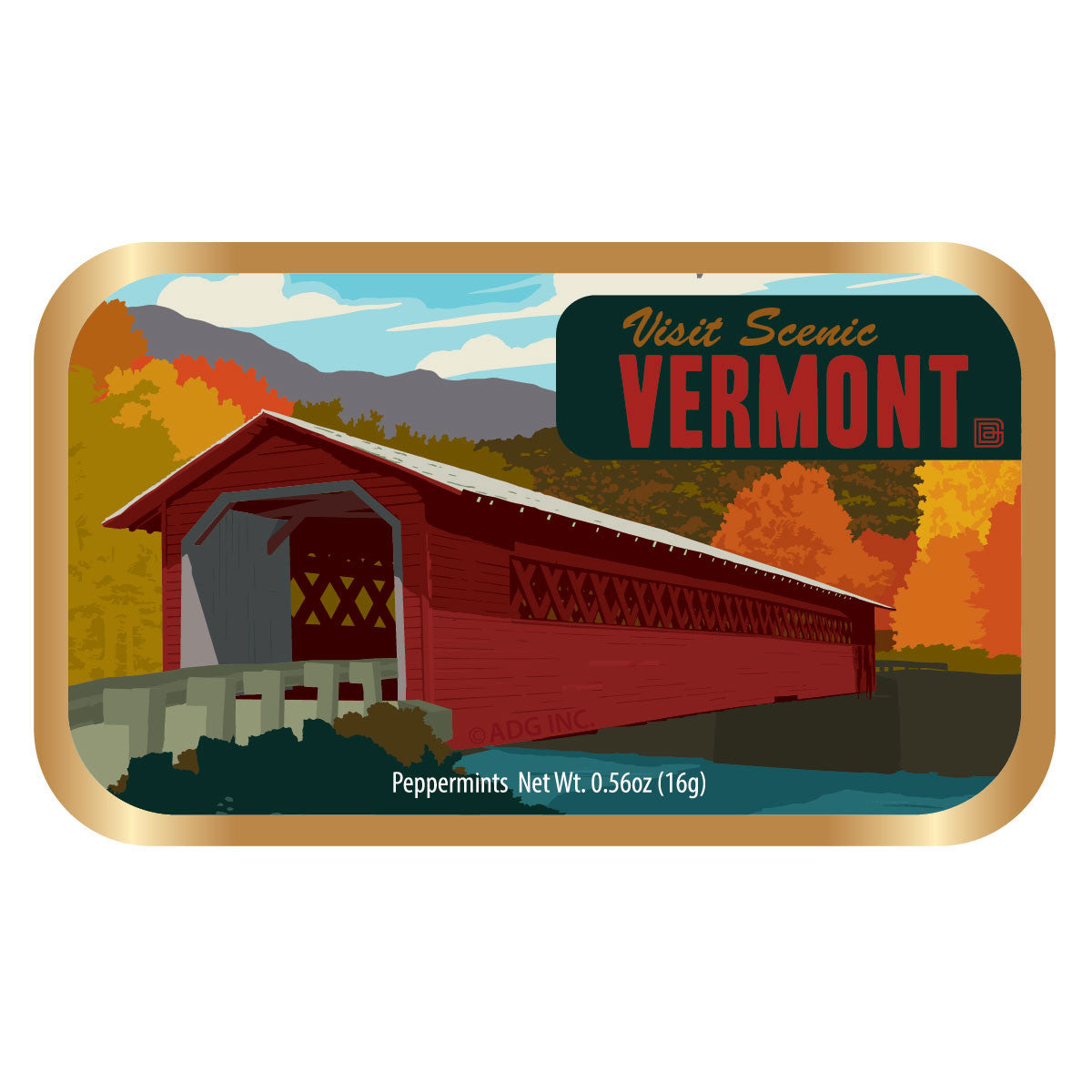 Vermont Covered Bridge - 1069A