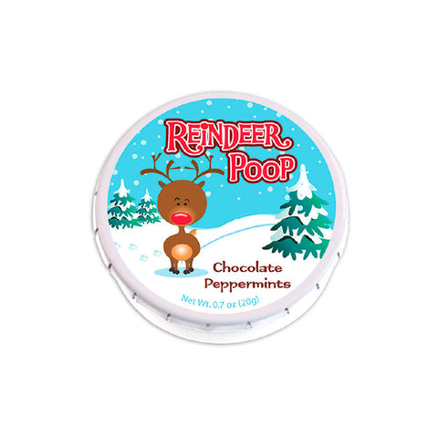 Reindeer Poop Clicker Mint Tin