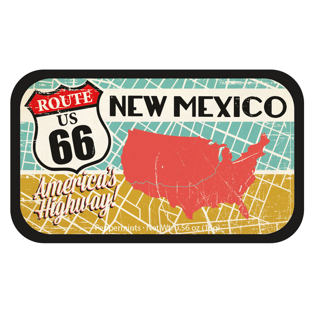 Route 66 Map New Mexico - 1290S