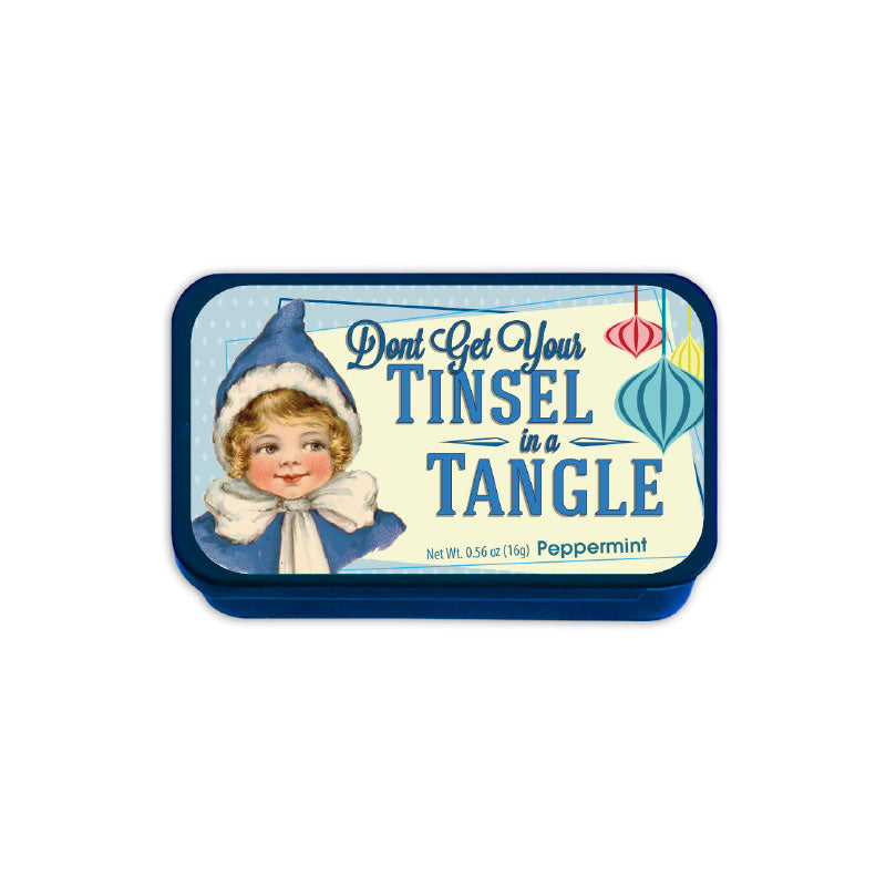 Tinsel in a Tangle Elf Slyder Tin