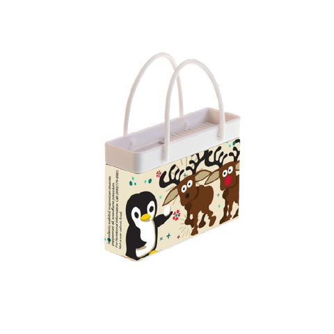 Holiday Critters Shopping Bag Tin