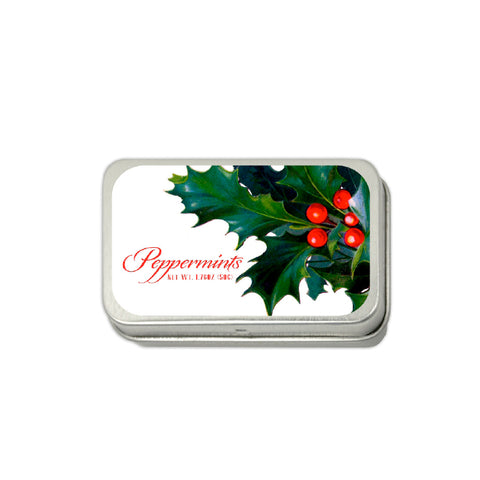 Holly Leaf Large Mint Tin