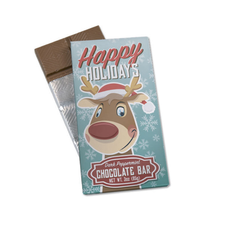 Happy Holidays Reindeer 3oz. Wrapper Bar