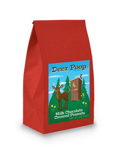 Deer Poop Bag with Milk Chocolate Covered Peanuts