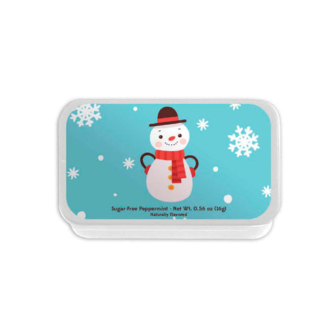 Snowman with Hands on Hips Slyder Tin