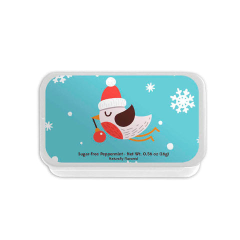 Bird with Santa Hat Slyder Tin