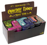 Blue Cowboy Boot Shaped Tin - MTR5003F