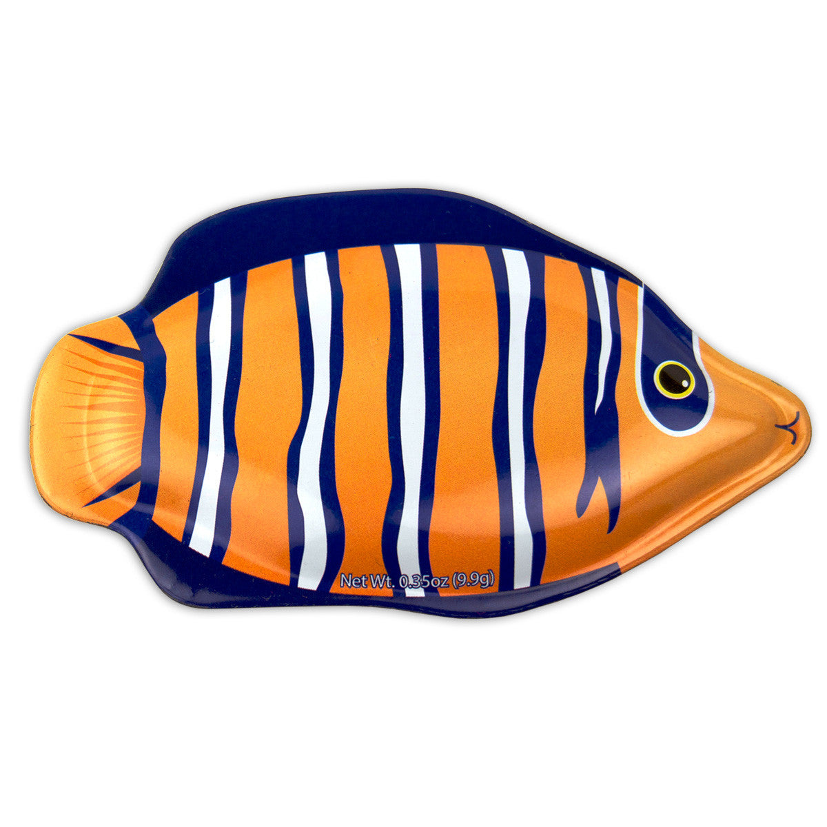Orange Damsel Fish Shaped Tin - MTR5016F