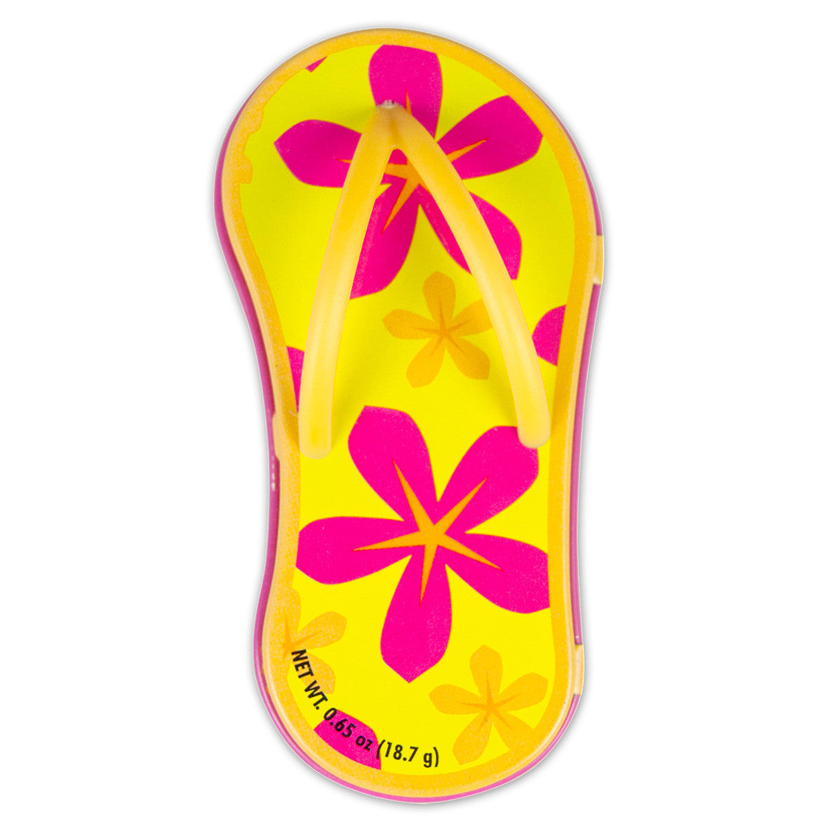 Floral Orange Flip Flop Shaped Tin - MTR4052F