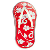 Hibiscus Red Flip Flop Shaped Tin - MTR4056F