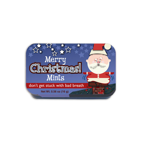 Santas Chimney Mints Slyder Tin
