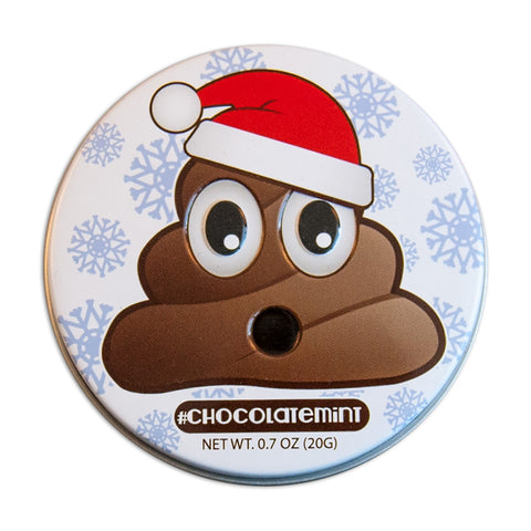 Emojy Poop Santa Shaped Tin - MTR8000F