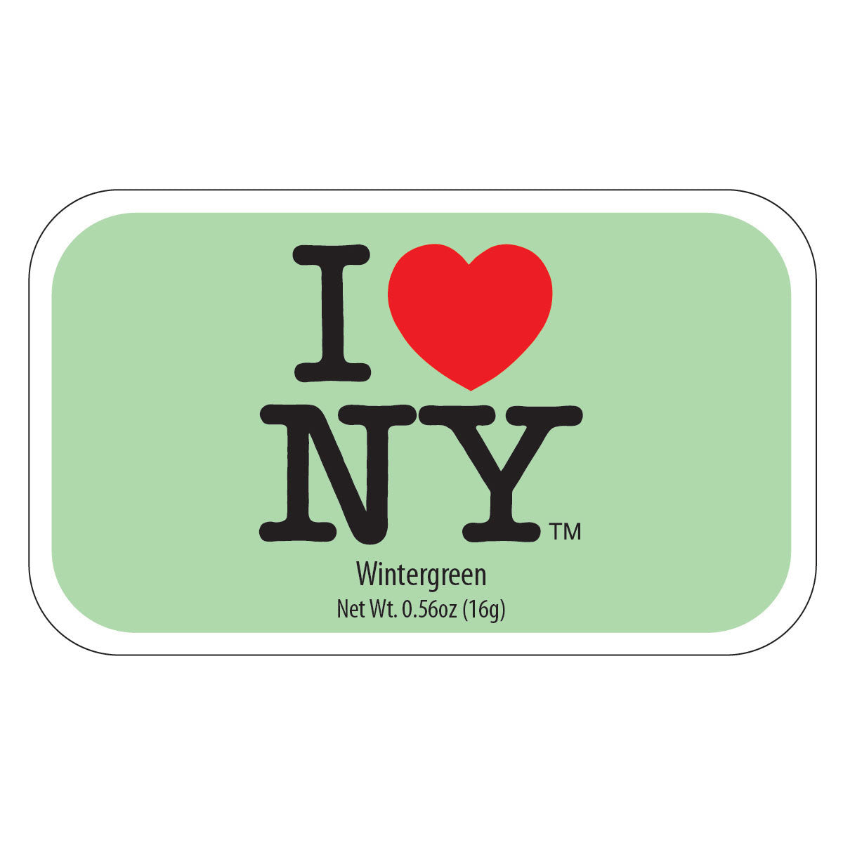 I Heart NY Wintergreen - MTR2148F