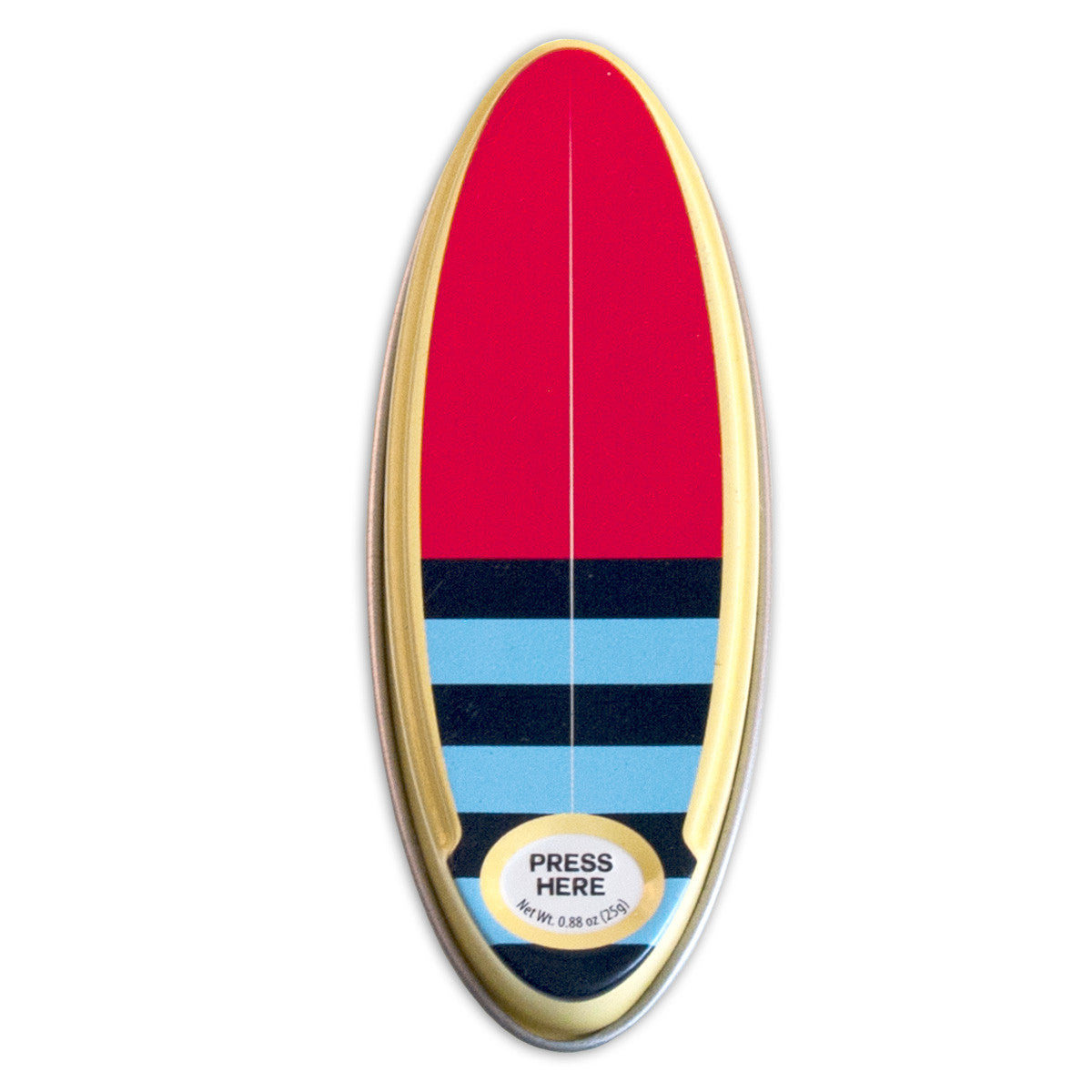 Surfboard Stripe Shaped Tin - MTR5051F