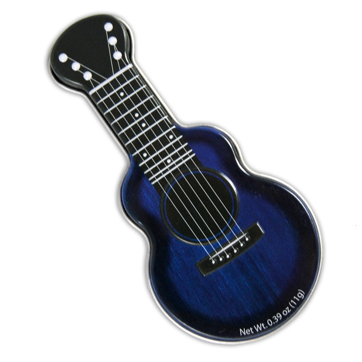 Blue Acoustic Guitar Shaped Tin - MTR4038F