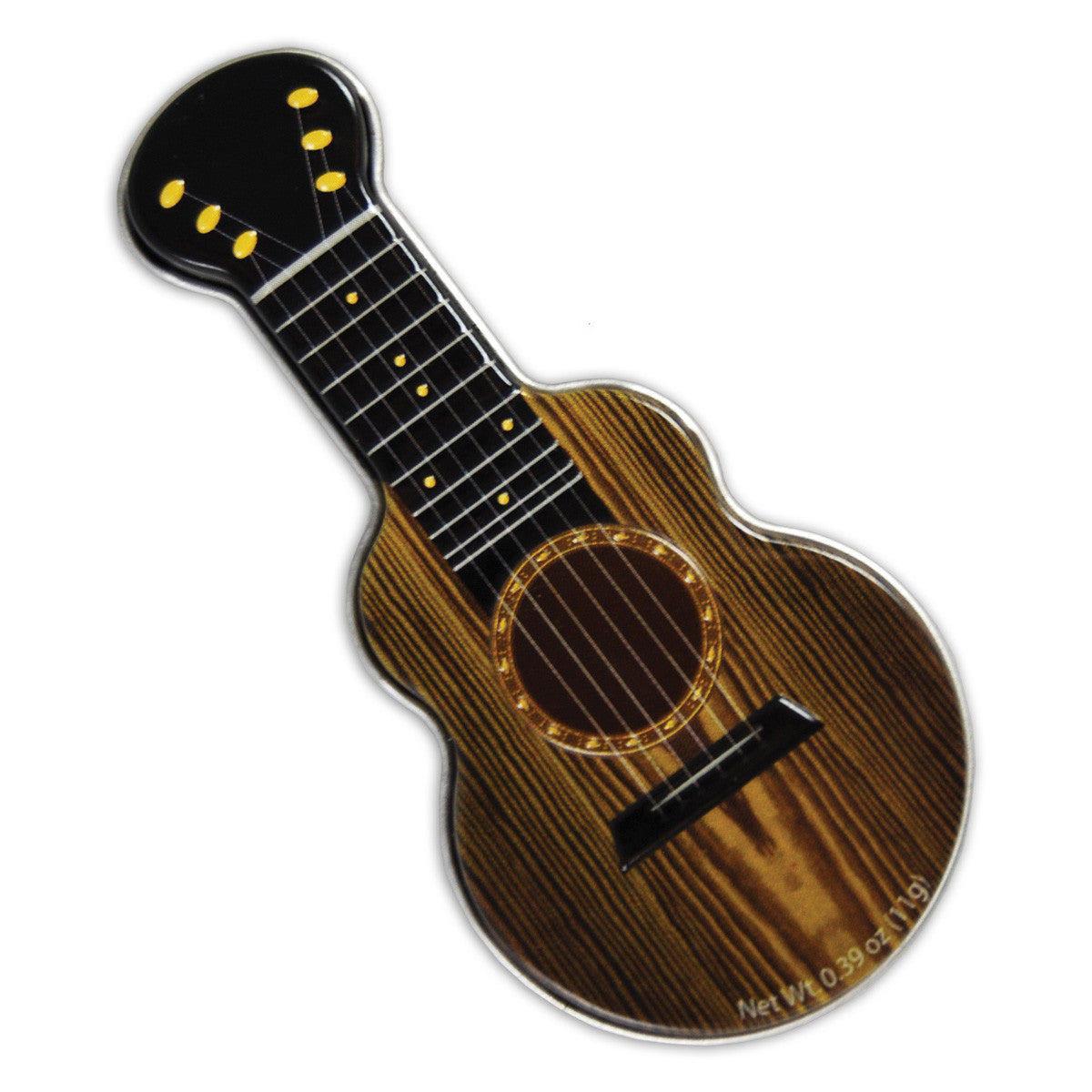Woodgrain Acoustic Guitar Shaped Tin - MTR4039F