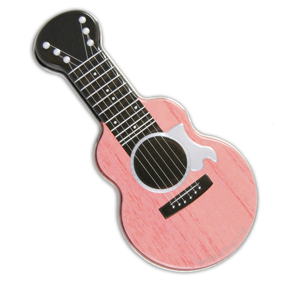 Pink Acoustic Guitar Shaped Tin - MTR4035F