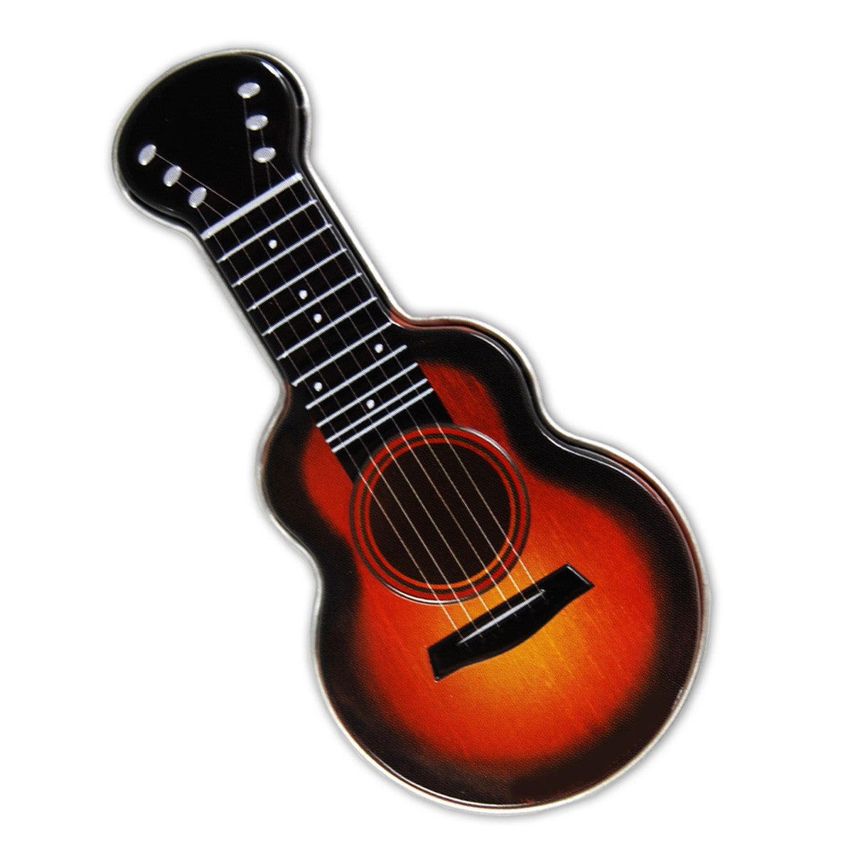Red Acoustic Guitar Shaped Tin - MTR4037F