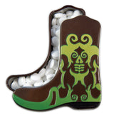 Green Cowboy Boot Shaped Tin - MTR5004F