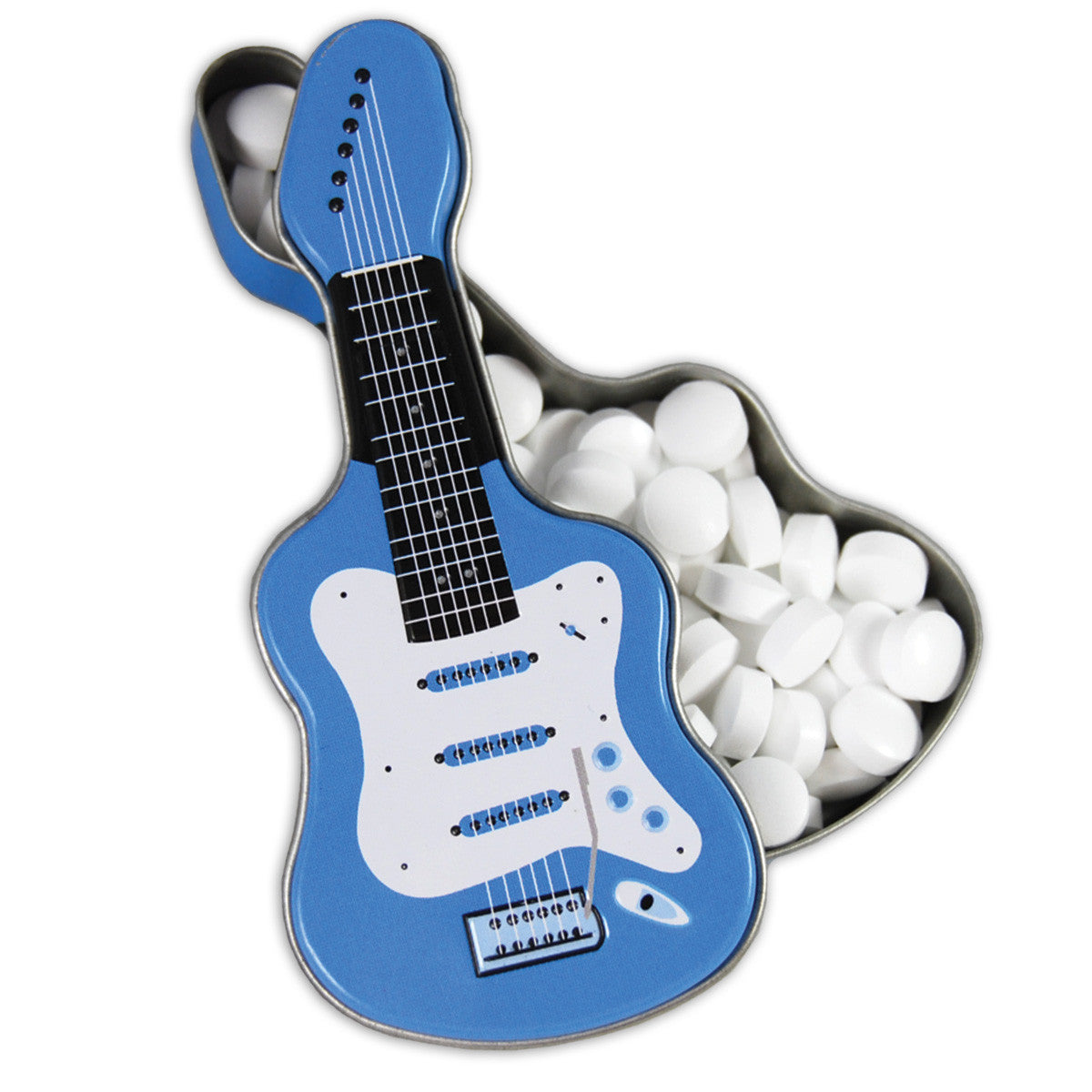 Blue Electric Guitar Shaped Tin - MTR4041F