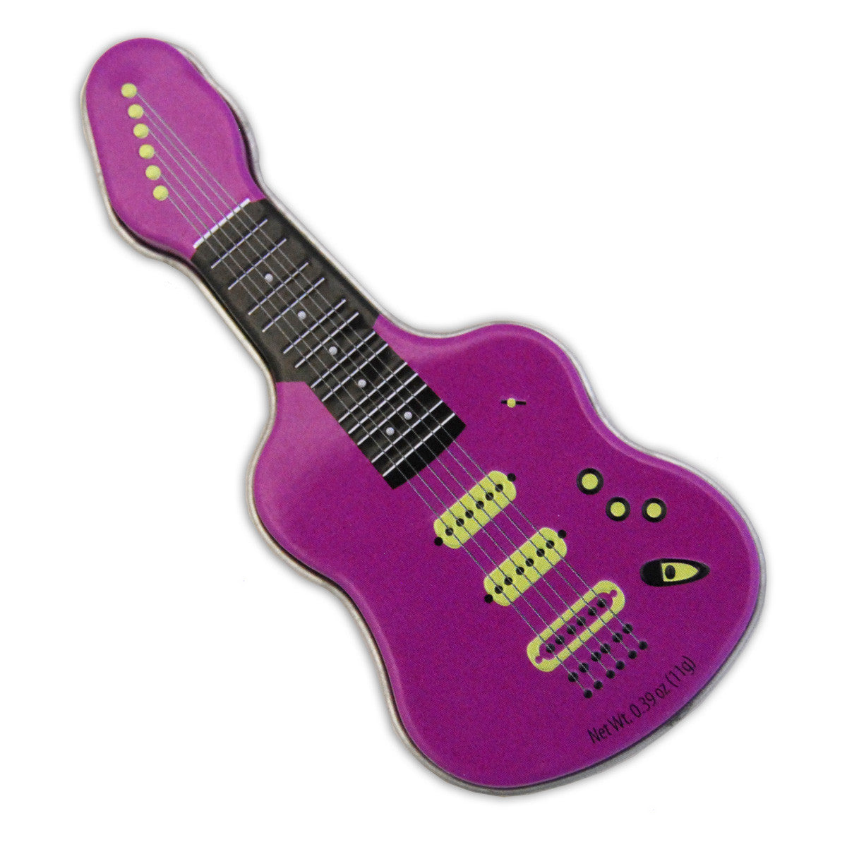 Purple Electric Guitar Shaped Tin - MTR4043F