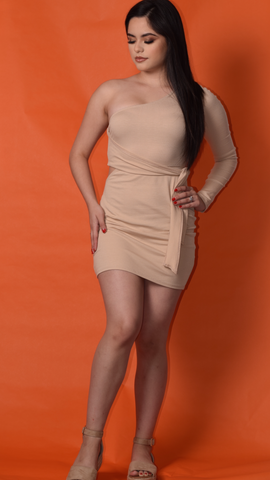 Nude Night Out Dress