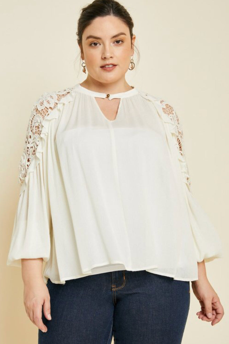 New Lace Plus Size Top