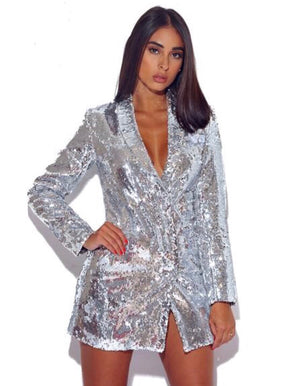 Women's Sequins Blazer Dress