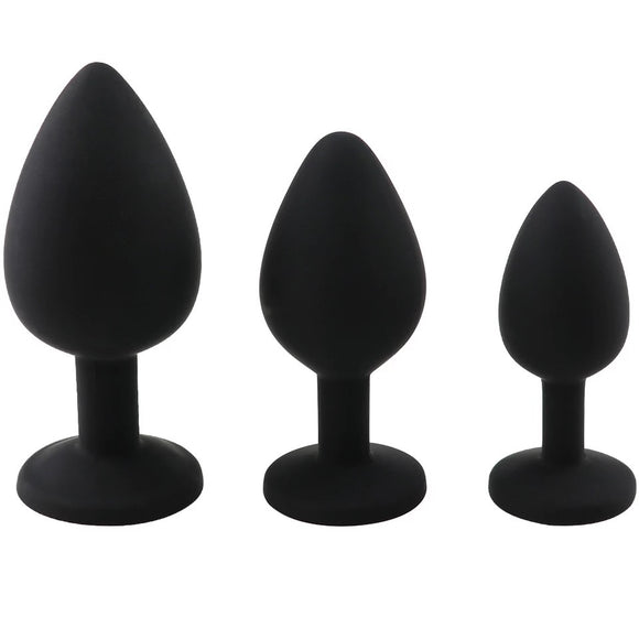 Jewelled Butt Plug 3 Pack