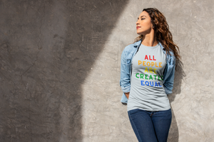 Breathtaking Photo of Woman Wearing All People Created Equal T-Shirt