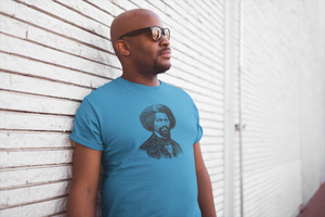 Man Wearing Cool Sunglasses and Even Cooler Frederick Douglass T-Shirt