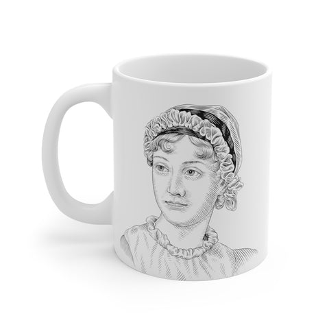 Jane Austen Ceramic Mug - Biblioriot